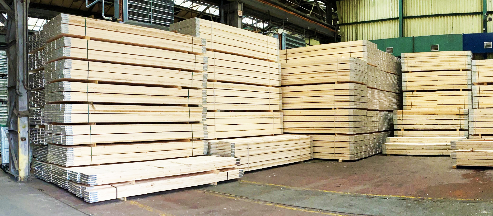 Stock of Timber Boards at SCP Warehouse